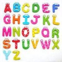 Magnetic Wooden Alphabets