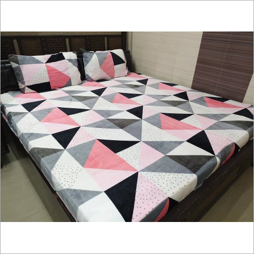 Multicolor 100x108 Inches Warm Printed, What Size Is A Double Bed Sheet In Inches