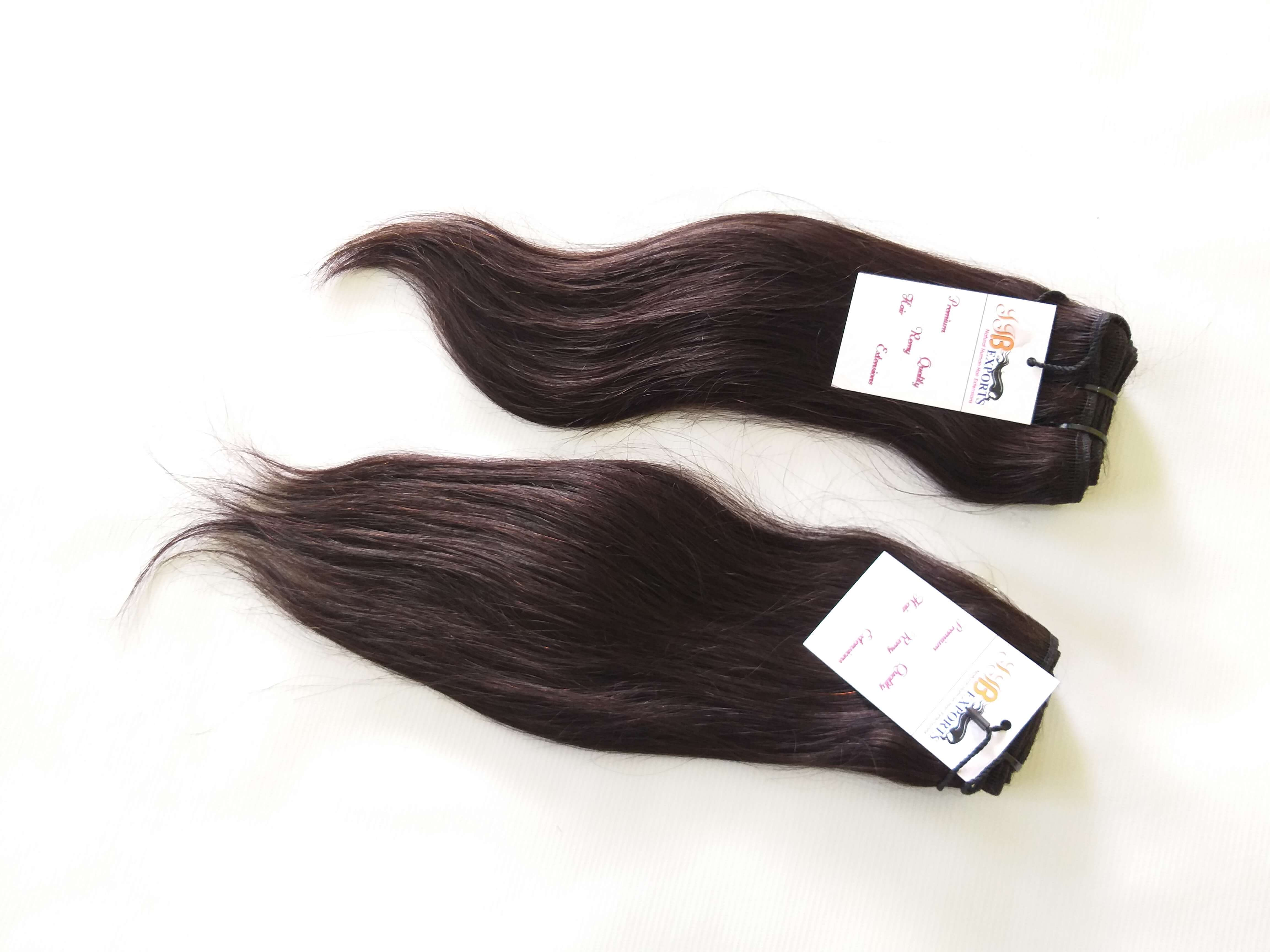 Natural Raw Unprocessed Brazilian Machine Made Straight Virgin Human Hair Bundle With Closure Frontal