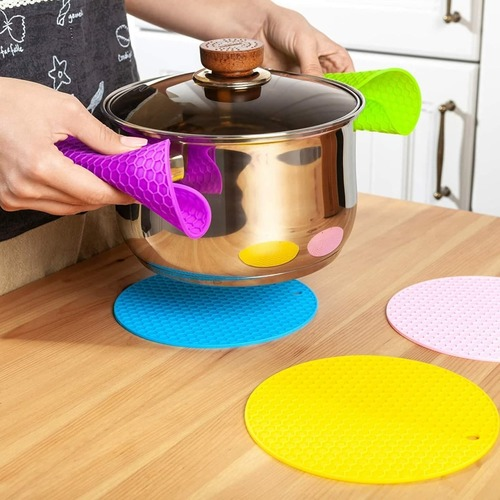 Silicone Trivets Mat (Set Of 4)
