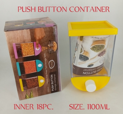Push Button Storage Container