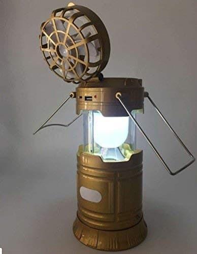 Mini Fan Solar Camping Lamp