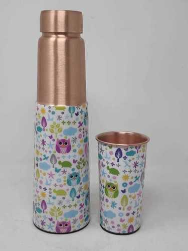 Printed Copper Bottle With Glass
