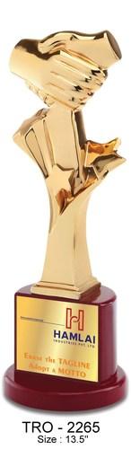 Handshake Metal Trophy