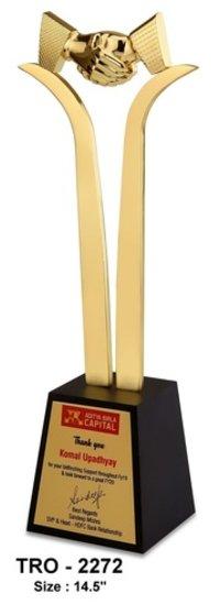 Premium Handshake Trophy