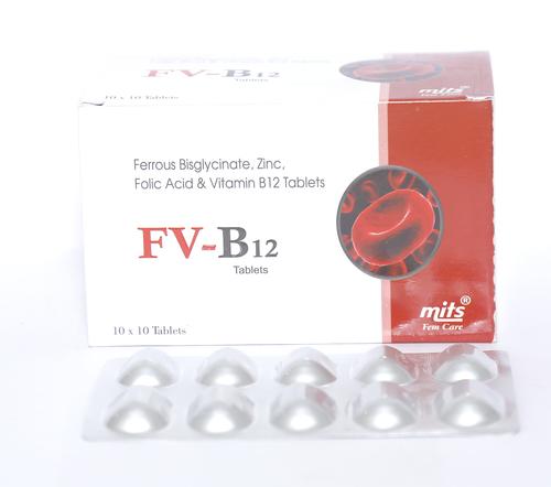 Ferrous Bis Glycinate Zinc Bis Glycinate Folic Acid Vitamin B12 tablets