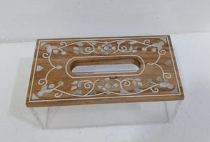 Mother of pearl acrylic Tissue box
