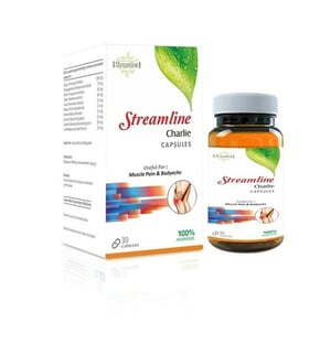Streamline Charlie Capsule Muscle Pain Capsules-30 Capsules