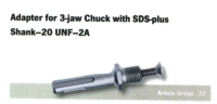 Adapter For 3 - Jaw Chuck With Sds Plus Shank