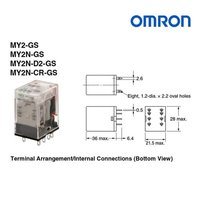 Omron MY2N-D2-GS DC24 Electrical Relay