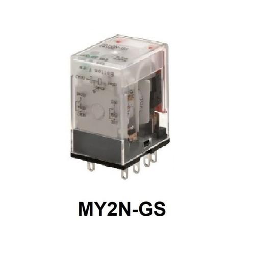 Omron 2 Pole 100/110 VAC Relay MY2N-GS AC100/110
