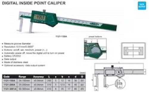 INSIZE 1121-150A Digital Inside Point Caliper