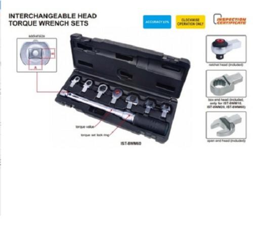 INSIZE IST8WM20 Interchangeable Head Torque Wrench Set