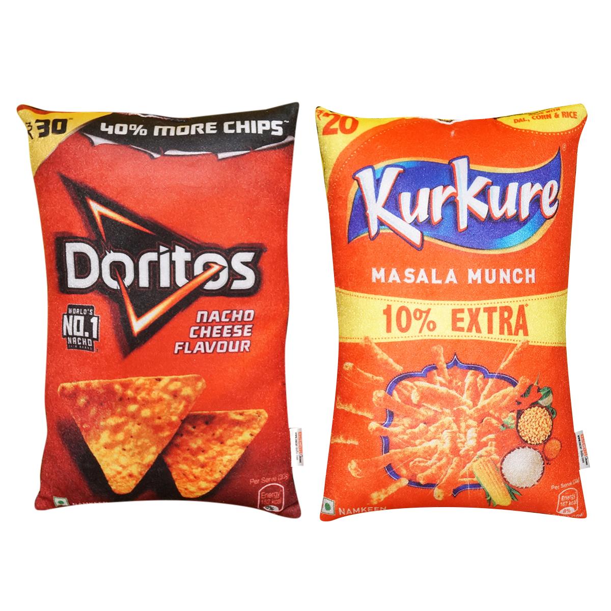 Crunchy snacks cushions