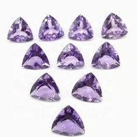 3mm Brazil Amethyst Faceted Trillion Loose Gemstones