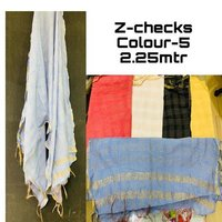 Cotton Designer Z Checks Dupatta