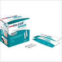 On Call Simple Blood Glucose Test Strip