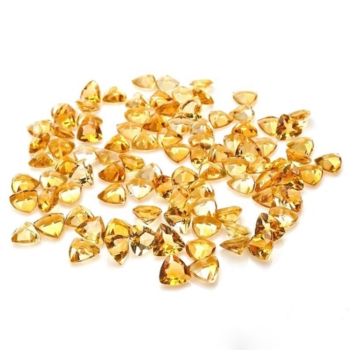 3mm Citrine Faceted Trillion Loose Gemstones
