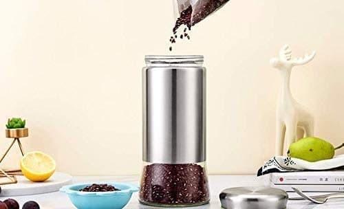 Crystal Clear Glass Jar Storage for Coffee