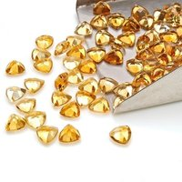 5mm Citrine Faceted Trillion Loose Gemstones
