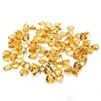 8mm Citrine Faceted Trillion Loose Gemstones