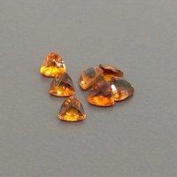 5mm Hessonite Garnet Faceted Trillion Loose Gemstones