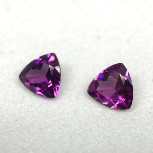 5mm Rhodolite Garnet Faceted Trillion Loose Gemstones