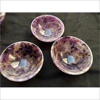 Amethyst Round Crystal Bowl