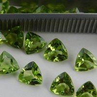 8mm Peridot Faceted Trillion Loose Gemstones