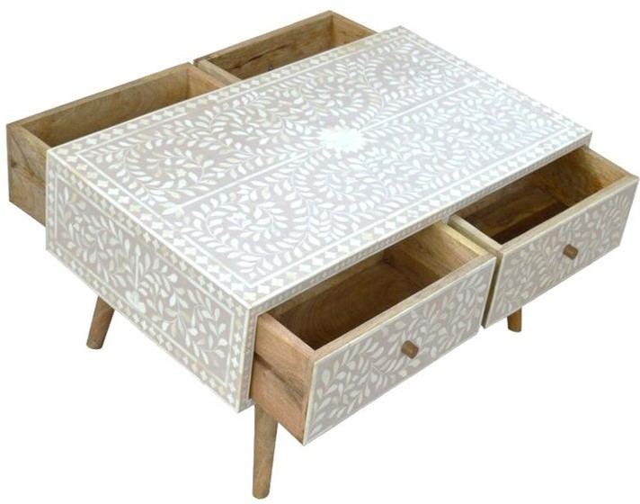 bone inlay side table