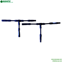 Factory Direct L mini branch connector Photovoltaic System Parts Waterproof 4.0 T type branch connector