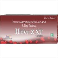 Ferrous Ascorbate With Folic Acid And Zinc Tablets