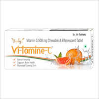 500 mg Vitamin C Chewable And Effervescent Tablet