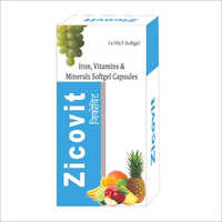 Iron Vitamins And Minerals Softgel Capsules