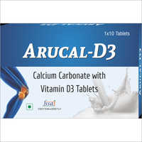 Calcium Carbonate with Vitamin D 3 Tablets