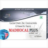 Calcium Citrate Zinc Cholecalciferol And Vitamin B12 Tablets