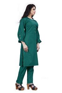 Ladies Designer Cotton Kurtis With Pants