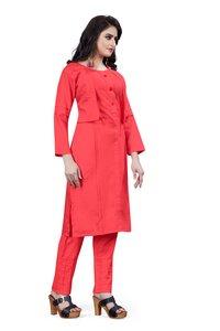 Ladies Fashionable Cotton Kurtis With Pants