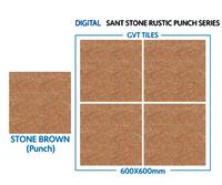 600 X 600 Mm Sant Stone Rustic Punch Series Porcelain Tiles