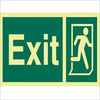 Outdoor Exit Sign Board