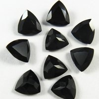 7mm Black Onyx Faceted Trillion Loose Gemstones