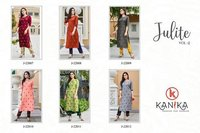 Julite Vol 2 Rubby Silk With Embrodry Work Kurti With Pant Catalogue