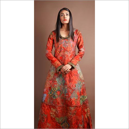 Ladies Designer Long Kurta with Skirt