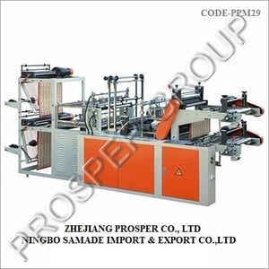 Double Layer Computer Control High Speed Rolling Bag Making Machine