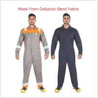 Cellulosic Blend Fabric Industrial Coverall