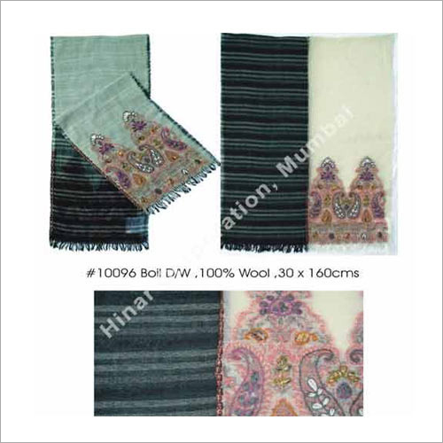 Wool Embroidery Scarf with Embroidery