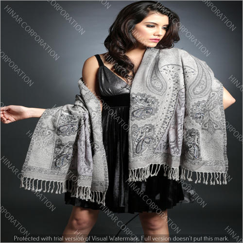 Designer Hand Embroidery Lace Wool Shawls