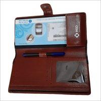 Leather Check Folder