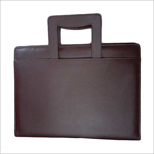 Black Leather File Folder