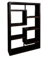 Dark polish bookcase.